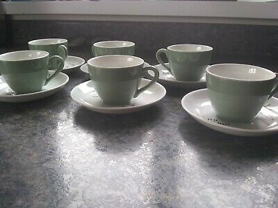 Ridgway Pottery 6 X Coffee Cups & Saucers • 5£