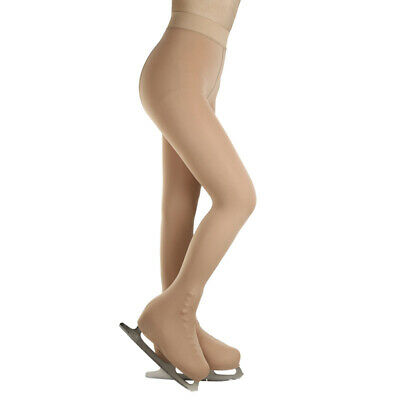 Ice Figure Stocking Girls Suntan OverBoot Footed Skating Tights • 11.42£