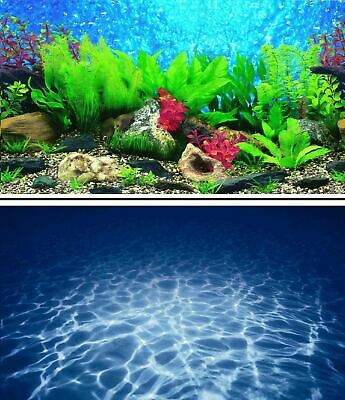 AU15.27 • Buy Aquarium Fish Tank Background Double Sided 12  / 30cm High - 2 To 10 FT Lengths