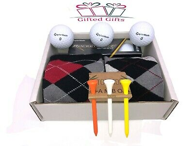 £10.95 • Buy Golf Gift Sets Socks Balls Tee's Ideal Presents, Birthdays Fathers Day Society's