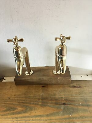 £355 • Buy Refurbished Traditional Brass Bib Taps And Upstands Ideal For Belfast  Sink L39