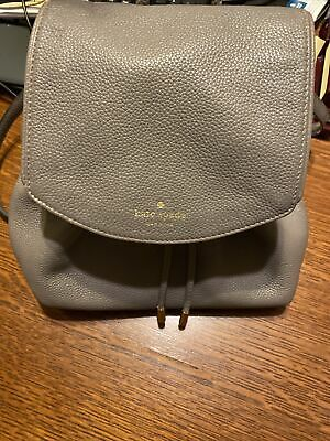 $ CDN26.16 • Buy Kate Spade Gray Leather Mini Backpack