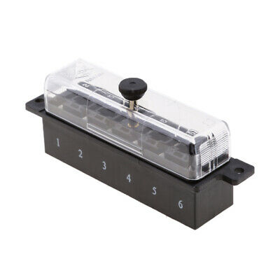 AU19.74 • Buy 6-way Medium Blade Fuse Holder Block Fuse-box Panel For Car