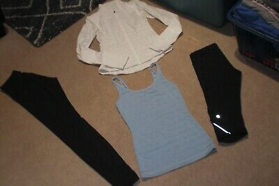 $ CDN75 • Buy  Lot Of Lululemon Tights, Crops, Form Jacket And Tank Sz 6