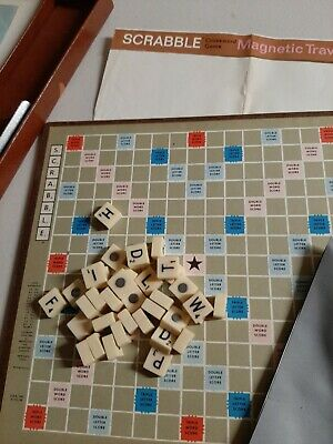 Antique 1948 - 1954 TRAVEL SCRABBLE GAME - Spear's Games • 10£