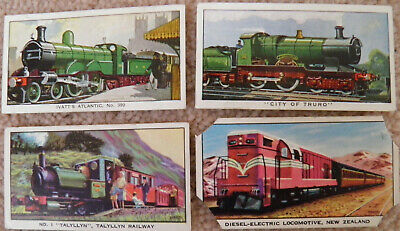 Kelloggs Trade Cards. 'The Story Of The Locomotive'. 4 X Cards. (Series 1 And 2) • 0.99£
