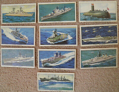 Kelloggs Trade Cards. 'Ships Of The British Navy'. 10 Cards. Loose. • 0.99£
