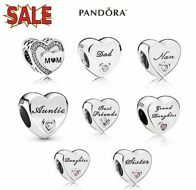£9.89 • Buy New Genuine PANDORA Sterling Silver ALE S925 Charm Daughter Wife Mum Love Heart