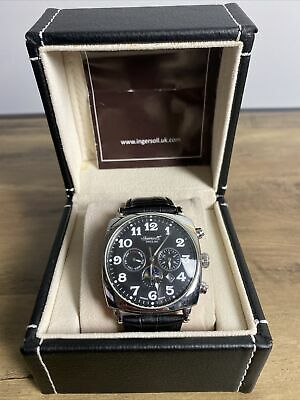 Ingersoll Mens Automatic Watch Black Dial In Box • 50£