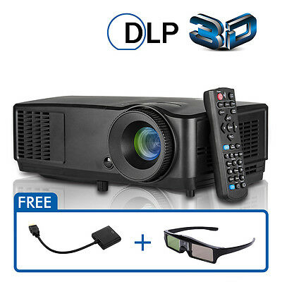 AU467.50 • Buy EUG 3D DLP Projector Daytime Meeting Church 1080P 12000:1 Conference Weeding LED