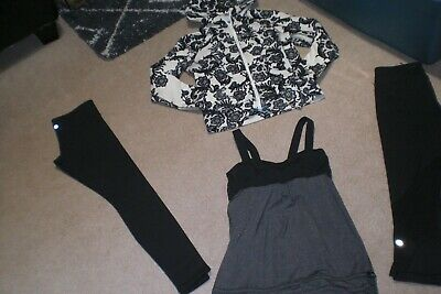 $ CDN67.15 • Buy  Lot Of Lululemon Wunder Under Tights, Crops, Rare Hoodie, And Tank Sz 6