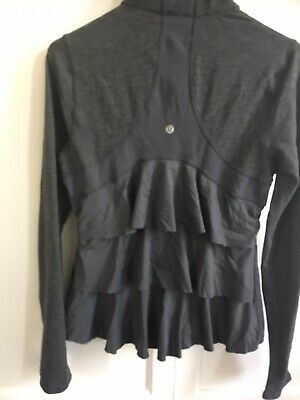 $ CDN112.78 • Buy Lululemon Yogi Dance Jacket 8 Ruffle Tiered In The Back Excellent Coco Pique