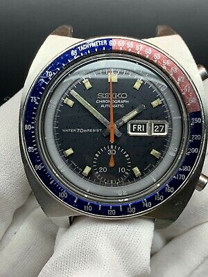 $ CDN708.34 • Buy Seiko Pogue Resist Dial 6139 6002 Everything Authentic And Working Blue Dial