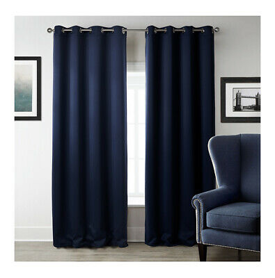 Luxury Soft Heavy Embossed Thermal Blackout Eyelet Ring Top Lined Pair Curtains  • 39.99£