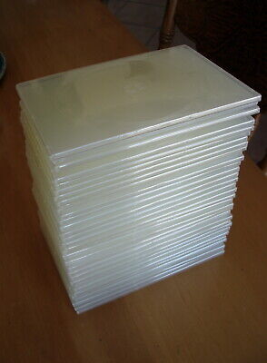 AU16 • Buy 32 Dvd / Cd Single Disc Plastic Cases With Outside Plastic Inserts - 6mm Spine