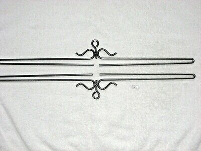 STEEL Scroll Bell Pull Hardware For 21 1/2  Tapestry / Quilt Hangers #S-29 • 7.15£