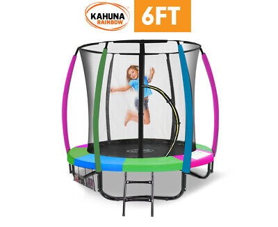 AU688.50 • Buy 6 Ft Trampoline With Rainbow Safety Pad Kahuna
