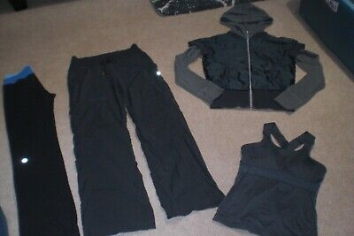 $ CDN68 • Buy Lot Of Lululemon Astro Pants, Dance Studio Pants, Rare Jacket W Hood, Tank Sz 6