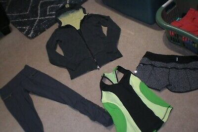 $ CDN89.25 • Buy Lot Of Rare Lululemon Speed Tights,  Speed Shorts, Life Simply Hoodie, Tank Sz 6