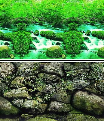 AU26.20 • Buy Aquarium Fish Tank Background Double Sided 31  / 80cm High - 2 To 10 FT Lengths