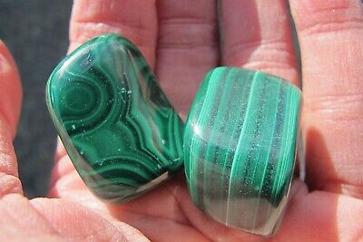 Malachite Crystal Healing Natural Polished  Business Success  Green Large X2 • 16.99£