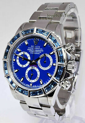 $ CDN32188.64 • Buy Rolex Daytona Steel Chronograph Watch 18k Gold Sapphire Bezel + Box  P 116520