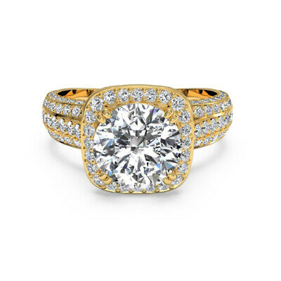 AU1351.77 • Buy Diamond Engagement Ring 1.35 Ct Round Cut Solitaire 14K Yellow Gold Size J