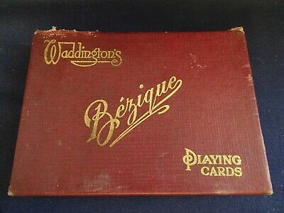 Vintage Boxed Waddingtons Bezique Dual Pack Playing Cards • 3.99£