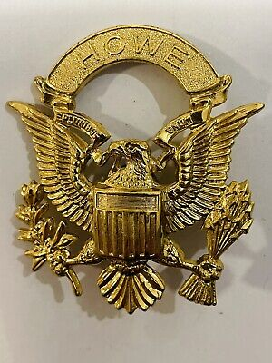 United States US Military Army Or Navy Eagle HOWE E PLURIBUS UNUM Cap Badge • 7.99£