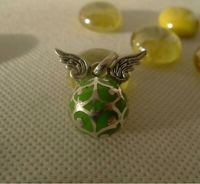 Harmony Ball Mexican Bola Sterling Silver & Green Resin Pendant SilverandSoul • 16£