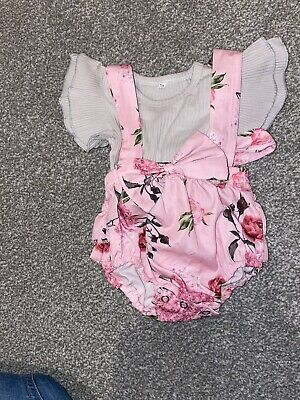 Baby Girl Set - Ruffle Romper Tops Dress Floral Clothes Outfit - 0-3 Months • 3.50£