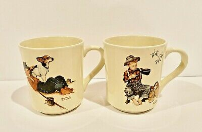 $ CDN14.84 • Buy Vintage Norman Rockwell Mugs - Set Of 2. A Boy & His Dog Four Seasons Collection