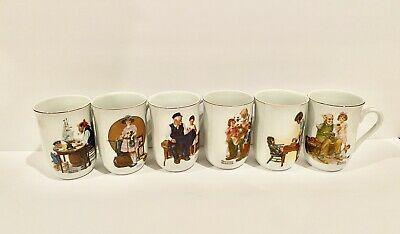 $ CDN9.78 • Buy Vintage Norman Rockwell Mugs - 6 Available. Collectible Made In Japan 1981 1982