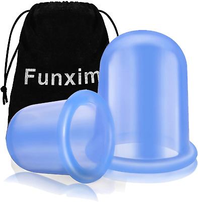 Silicone Cupping Therapy Set, Anti Cellulite Cup, Vacuum Massage Cup Kit Body 2 • 10.96£