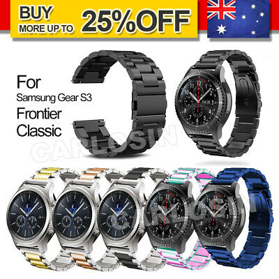 AU8.95 • Buy For Samsung Gear S3 Frontier/Classic Stainless Steel Luxury Wristband Band Strap
