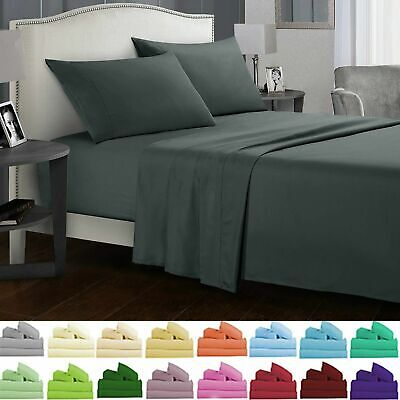 AU24.29 • Buy Ultra Soft 4/3PCS Flat & Fitted Sheet Set Single/Double/Queen/King Size Bed New