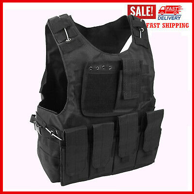 $31.99 • Buy New Military Tactical Vest Molle Combat Assault Plate Carrier With Bag