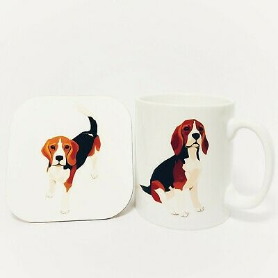 Beagle Mug And Coaster Set,Beagle Gifts,Beagle Lovers  • 13.99£