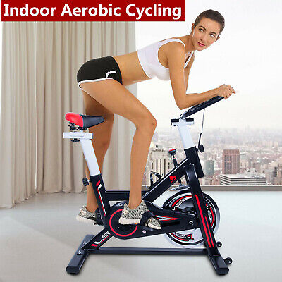Spin Exercise Bike Home Gym Cycling Bicycle Cardio Training Workout Fitness  • 160£