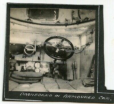 Original WWI Photo RNAS Rolls Royce Armoured Car Interior 1915 WW1 Photograph  • 95£