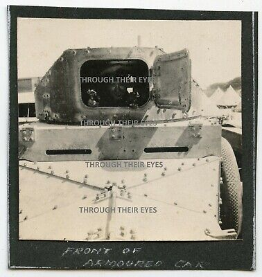 Original WWI Photo Front View Of RNAS Rolls Royce Armoured 1915 WW1 Photograph  • 60£