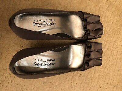 Stuart Weitzman Russell Bromley Grey Shoes Size 5 • 100£