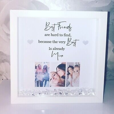 £15.99 • Buy Personalised Best Friend Photo Box Frame Christmas Birthday Unique
