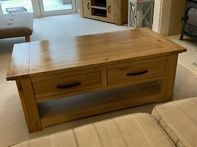Next Wooden Coffee Table With Drawers - Light Oak (very Good Condition) • 43£