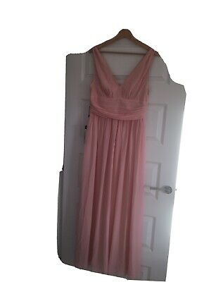 UK Ever-Pretty Plus Size Long Bridesmaid Dresses A-line Mesh Evening Prom Gowns • 2.50£