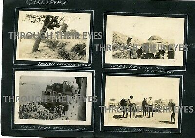 8 Original WWI Photos On Album Page RNAS Gallipoli Rolls Royce Armoured Car WW1 • 150£
