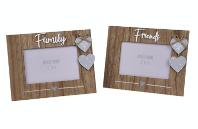 £10.99 • Buy Photo Picture Frame Family Friends Wooden Hearts