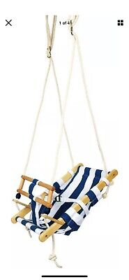 Small Foot Children's Child's Kid's Wooden Outdoor Maritime Toddler's Swing 6996 • 5£