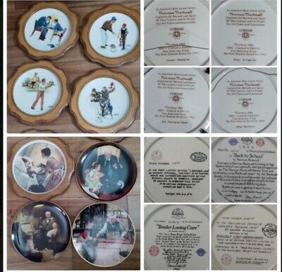 $ CDN31.90 • Buy 8 Collection Plates Gorham 4 Norman Rockwell, 5 Wood Protection & 4 Knowles
