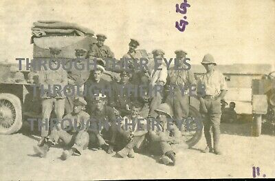 2 Original WW1 Photo RNAS Rolls Royce Armoured Car Mersa Matruh & Camel Corps  • 60£